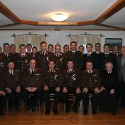 Ehrengäste, sowie beförderte und geehrte Kameraden.