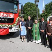 Patin Corinna Schaumberger, Anton Kasser, Pater Franz Hörmann, Werner Krammer, Kommandant Markus Schwein
